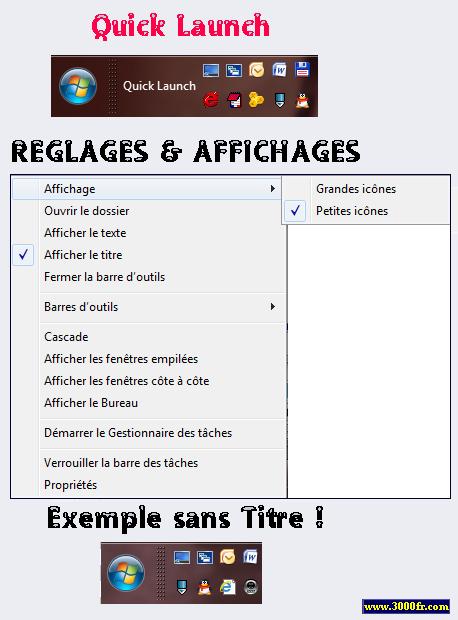 Terminé ~ Création Nouvelle barre outils lancement rapide Windows 7